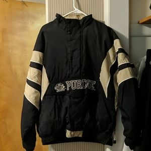 Purdue puffy 1/2 zip pullover